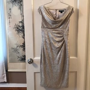 Ralph Lauren gold dress